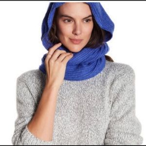 Free People hooded wrap scarf